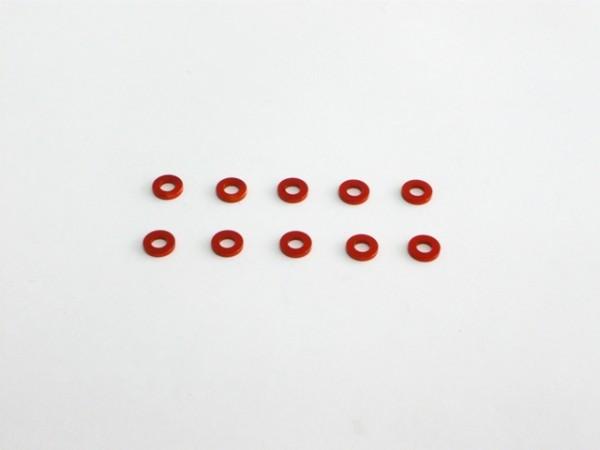 Aluminium Unterlegscheibe 3x6x1 Orange