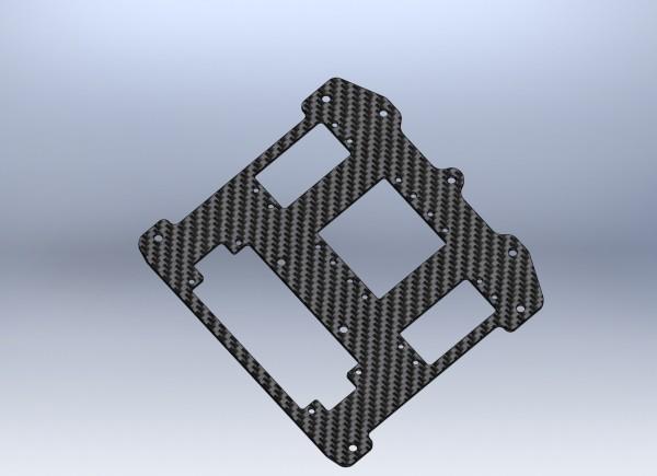 Radioplatte Carbon XR2 (2 Lenkservos)