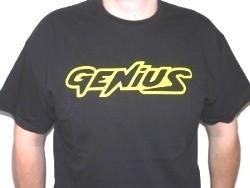 T-Shirt Genius Schwarz Größe L