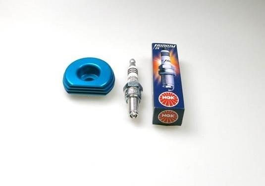 Kühlkörper für Zylinder + Iridium Zündkerze