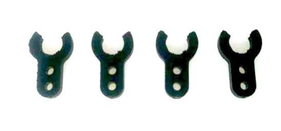 Abstand Clip Kunststoff 2mm für 6 Welle