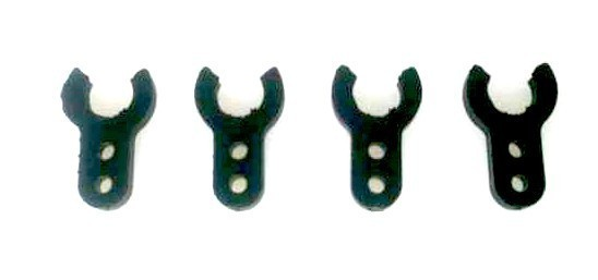 Abstand Clip Kunststoff 1mm für 6 Welle