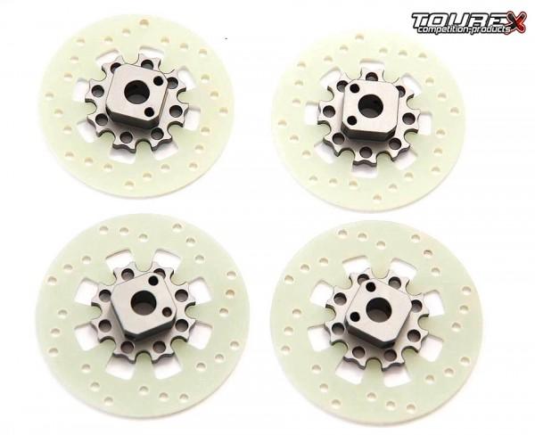 TOUREX 64mm Bremsscheiben mit Bremsscheibenadapter