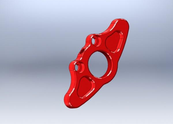 Halteplatte aussen für Bremsbelag (rot)