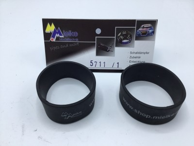 Silicon Schutz für 50mm Schalldämpfer breit 25mm, schwarz