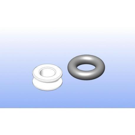 Buchse mit Oring für Fixierung Servoplatte mit Vorderachse (Flex)