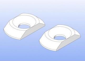 Beilagscheibe rechteckig für Stabihalterung hinten