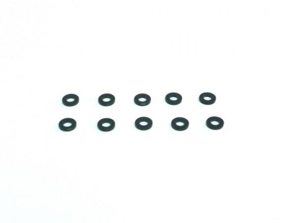 Aluminium Unterlegscheibe 3x6x1 Schwarz