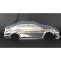 Body Citroen C Elisee WTCC 2015 - EFRA Legal – unlackiert - 1,5 mm transparent Lexan